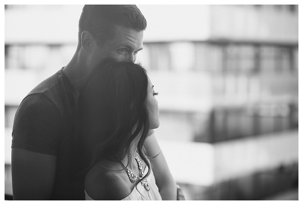 Looking forward to a life together, the engagement photos capture the hope of their love.