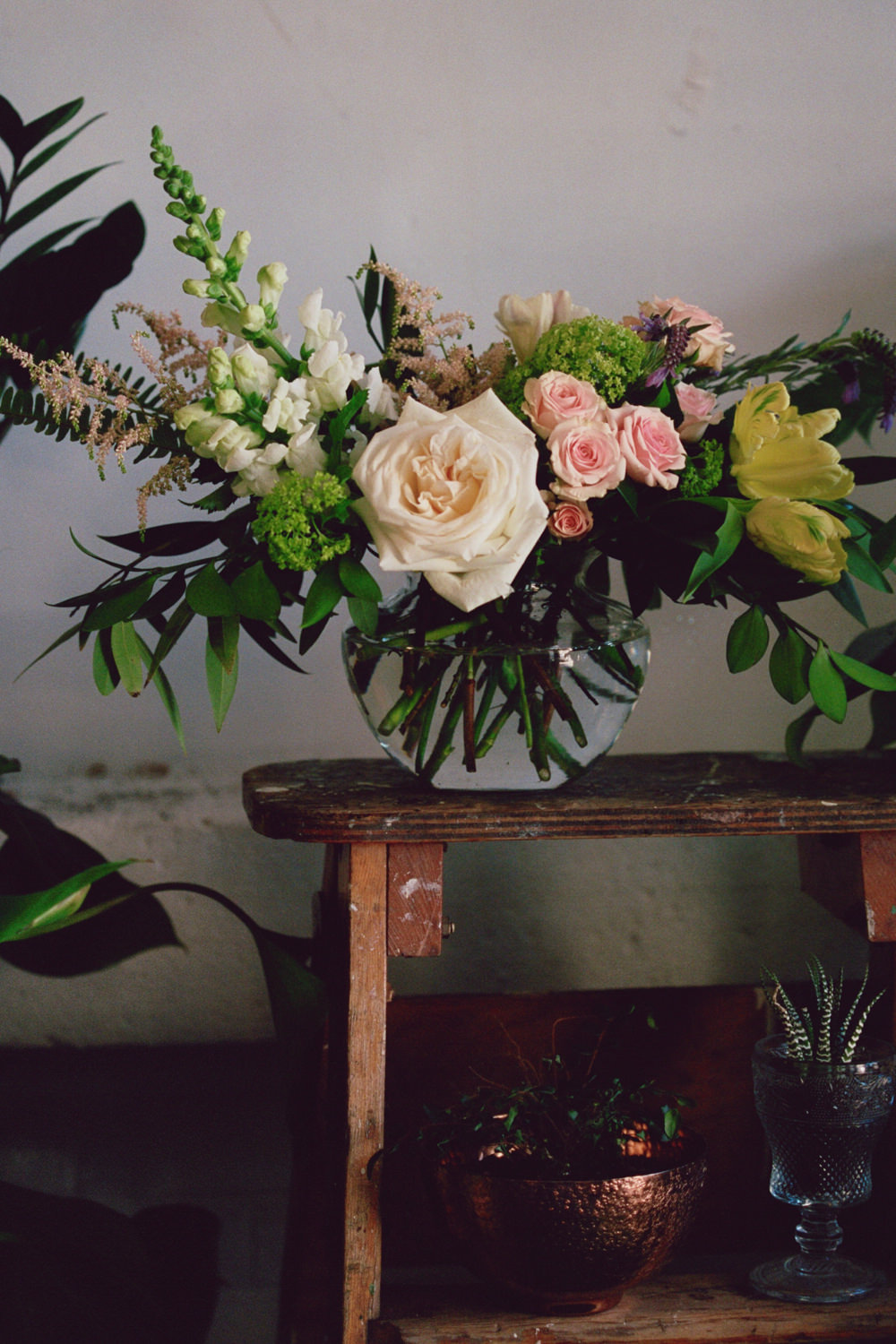 Blush and Bloom wild and naturla floral arrangement