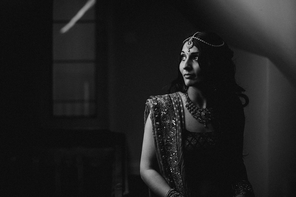 Indian bride in Toronto wedding.