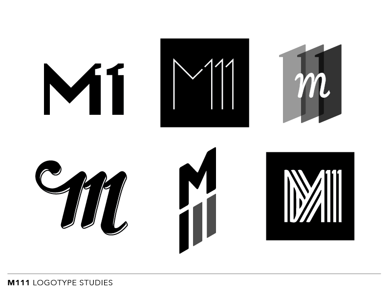 Logotype studies for M111