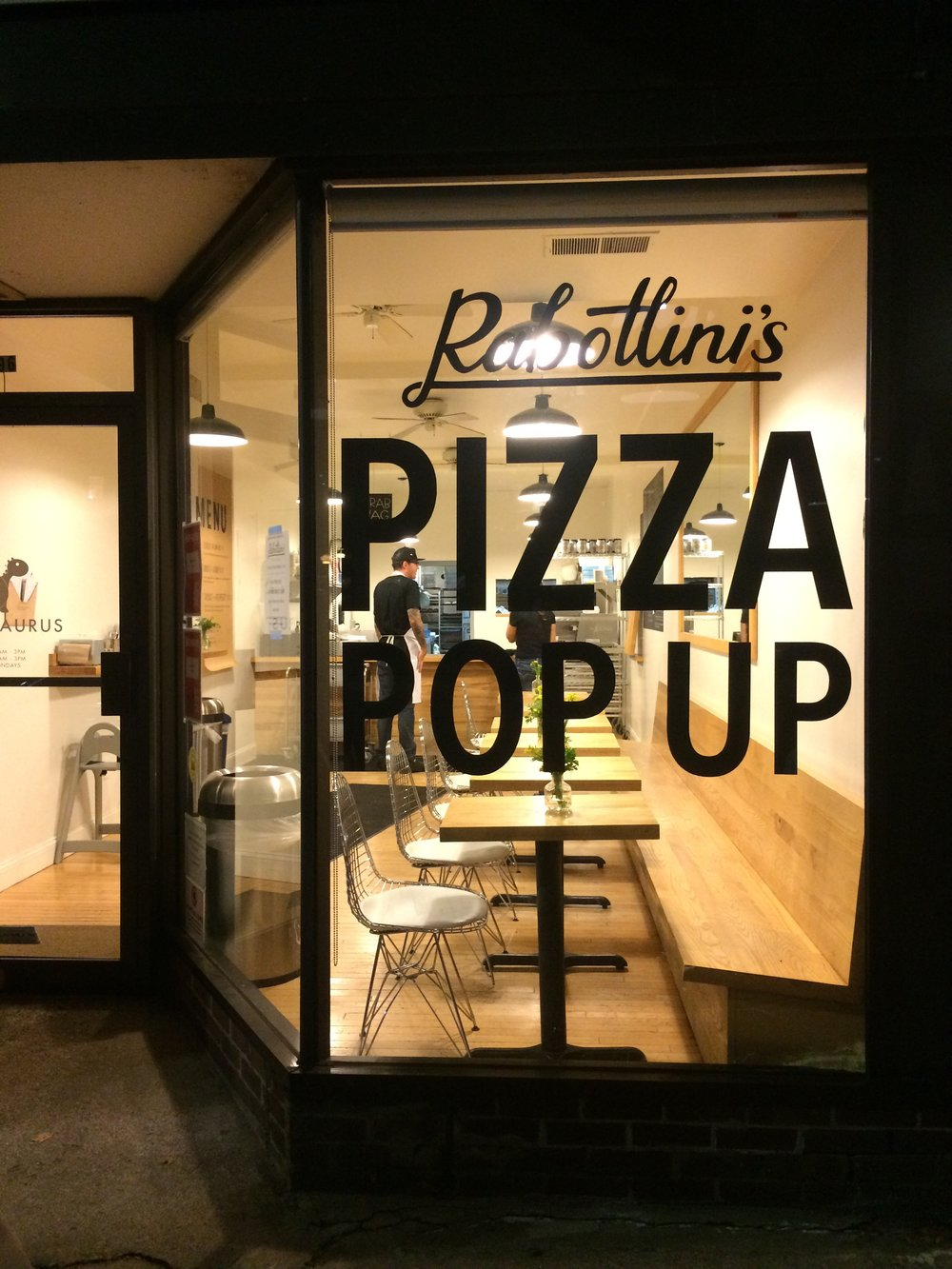 Window Decal for Rabottini's Pizza Pop Up
