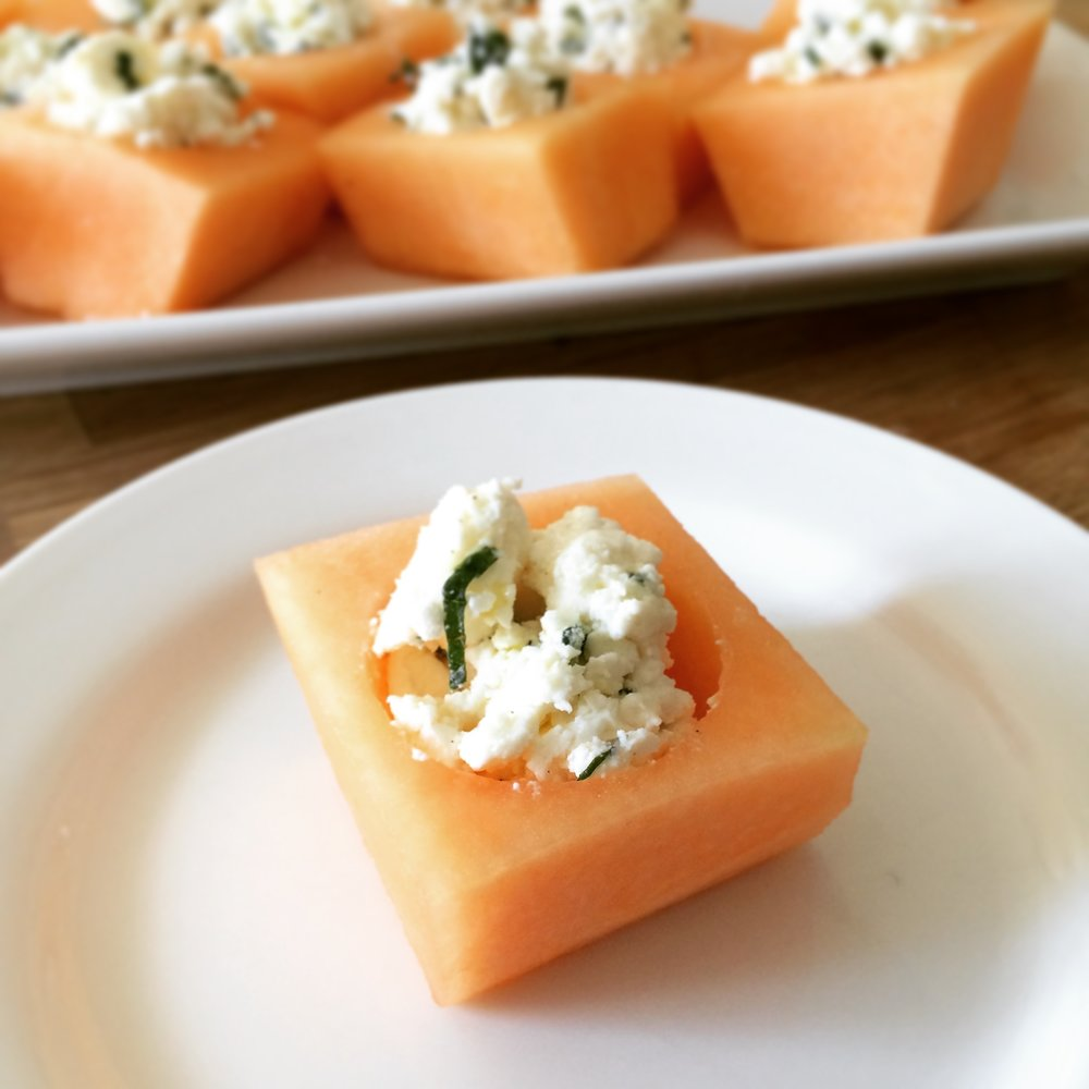 Cantaloupe + Feta + Mint + Honey