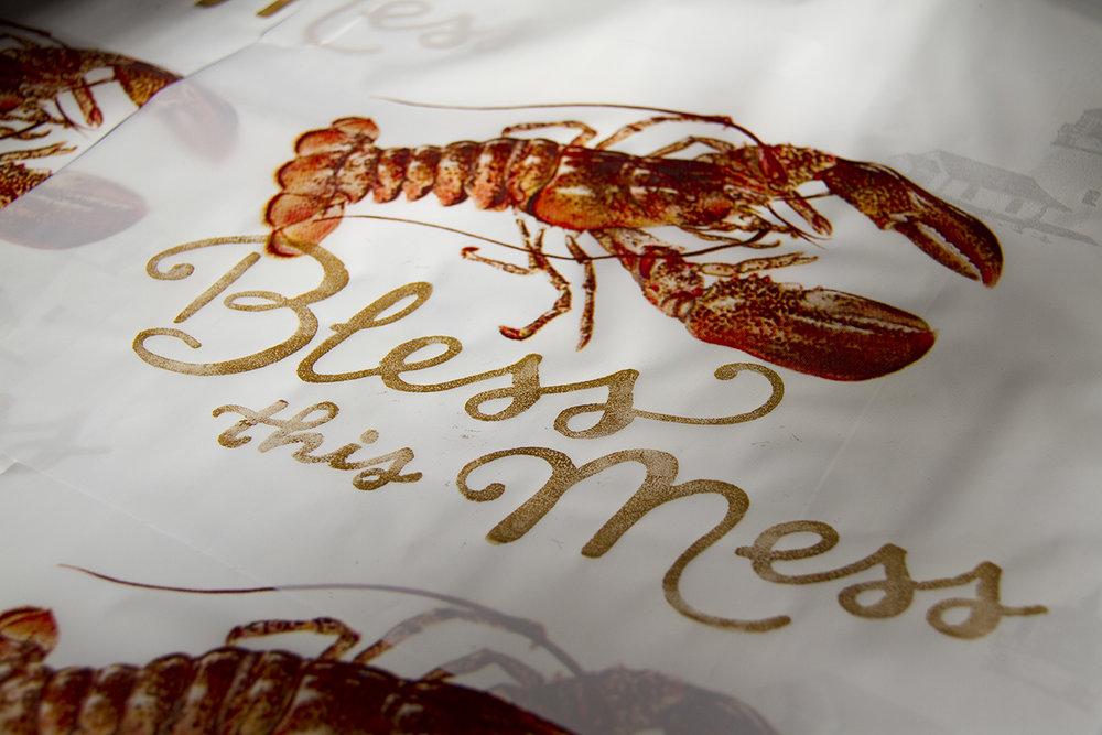 Lobster Bib Print