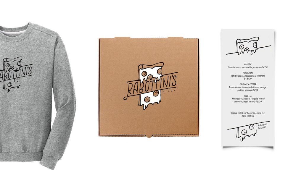 Logo Outtake for Rabottini's Pizza