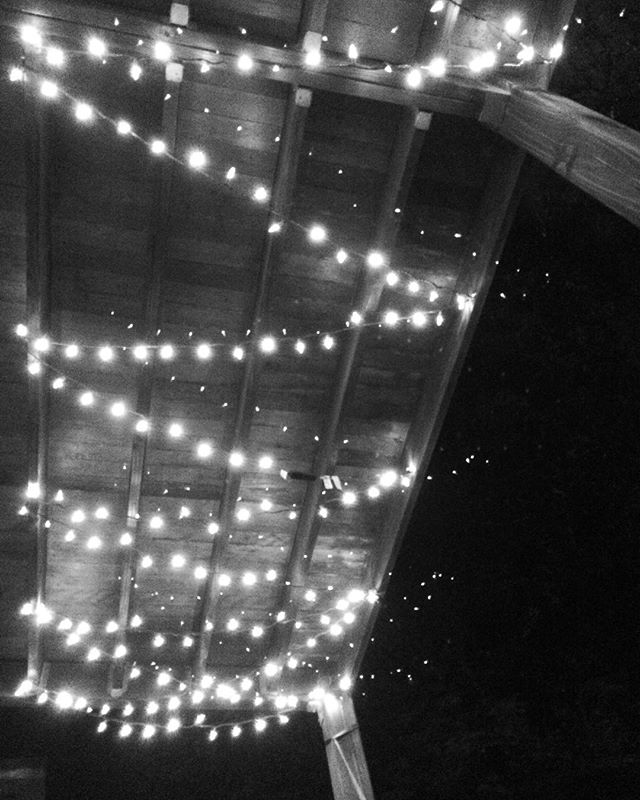 This porch is lit. ✨