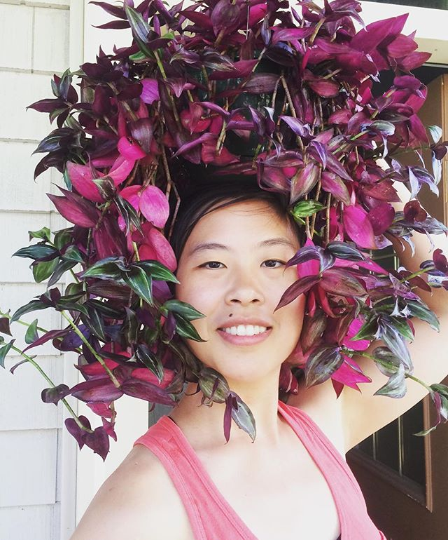 I am having a pretty good hair day 💁🏻 #TradescantiaZebrina #PlantLady