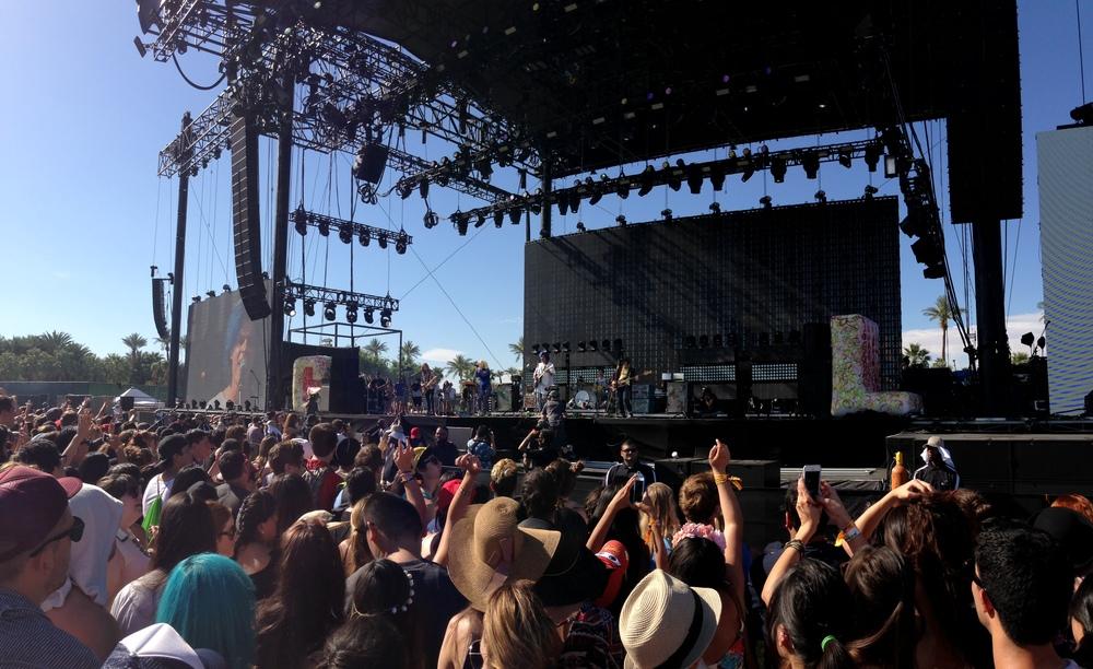 Grouplove on the Coachella Main Stage