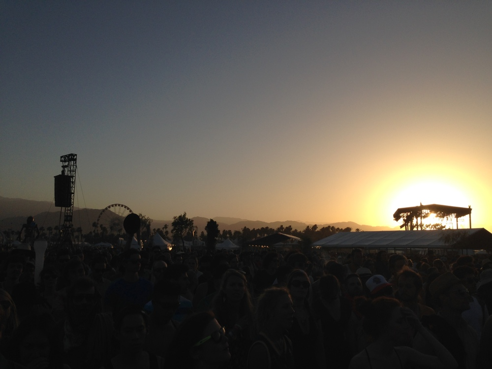 Sunset over the Main Stage
