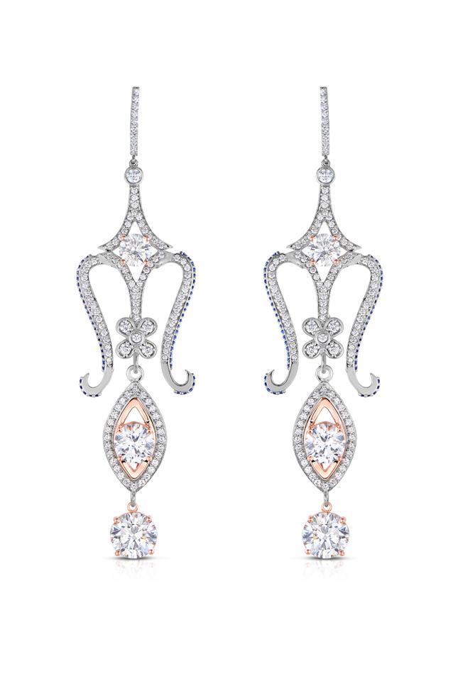 Diamond & Sapphire Earrings