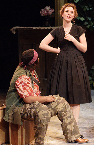 "WIth  Liz Jenkins  in ""12th Night"" at UCSD"
