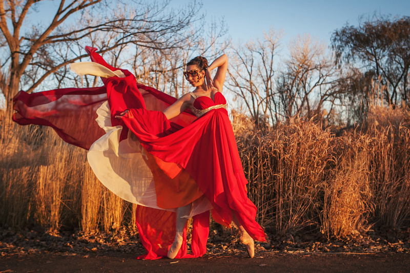 """Tiger Lilies and Fire Opals"" a maternity gown by Rachael Kras.   Photography: Amanda Tipton"