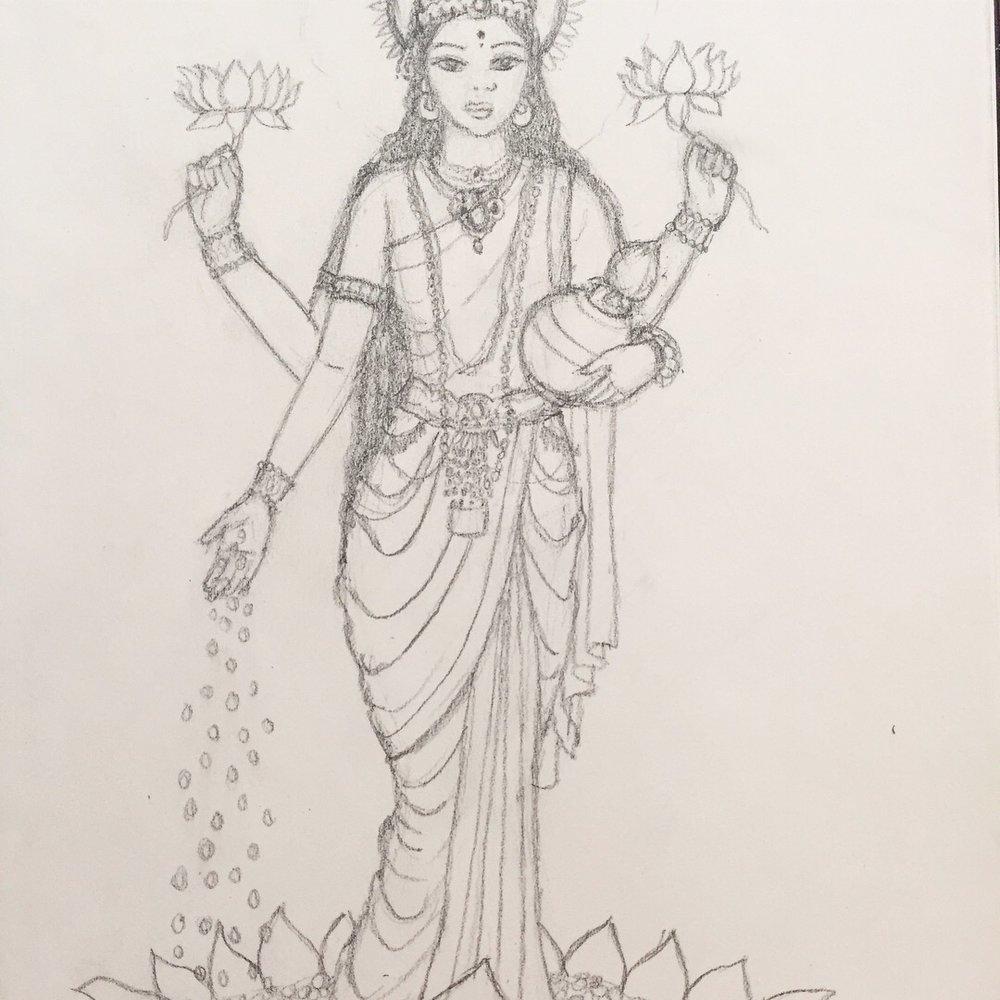 Lakshmi sketch