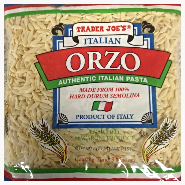 Orzo Pasta. Trader Joe's sells a package for $.99! Can't beat that.