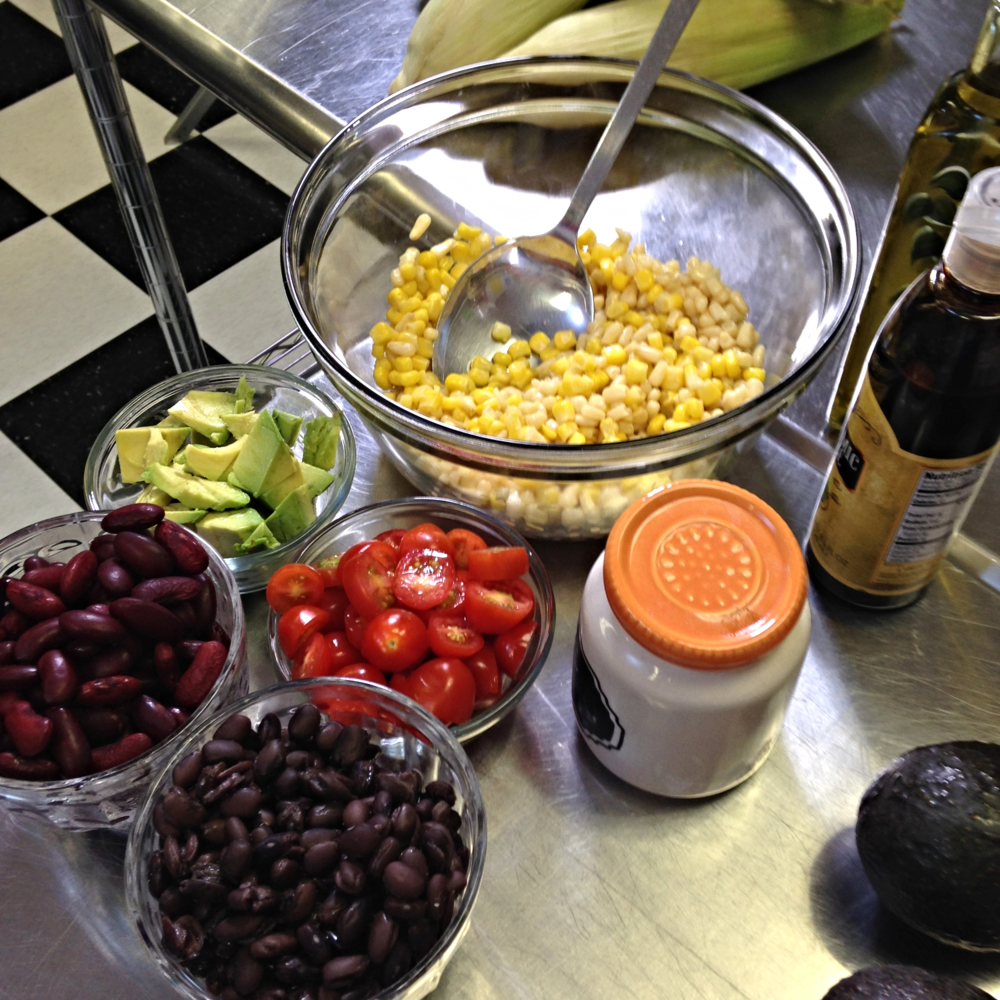 Roasted Corn Salad Ingredients - ChefShayna.com