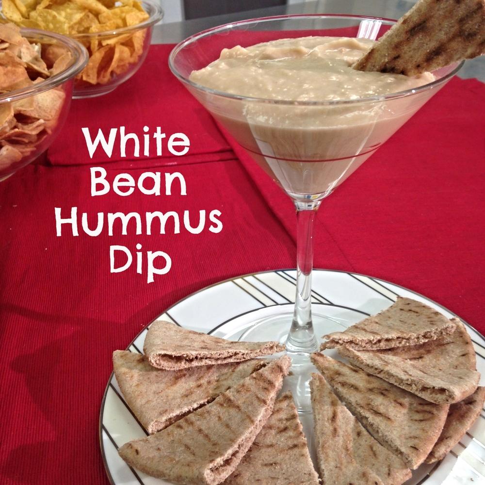 White Bean Hummus Dip- ChefShayna.com