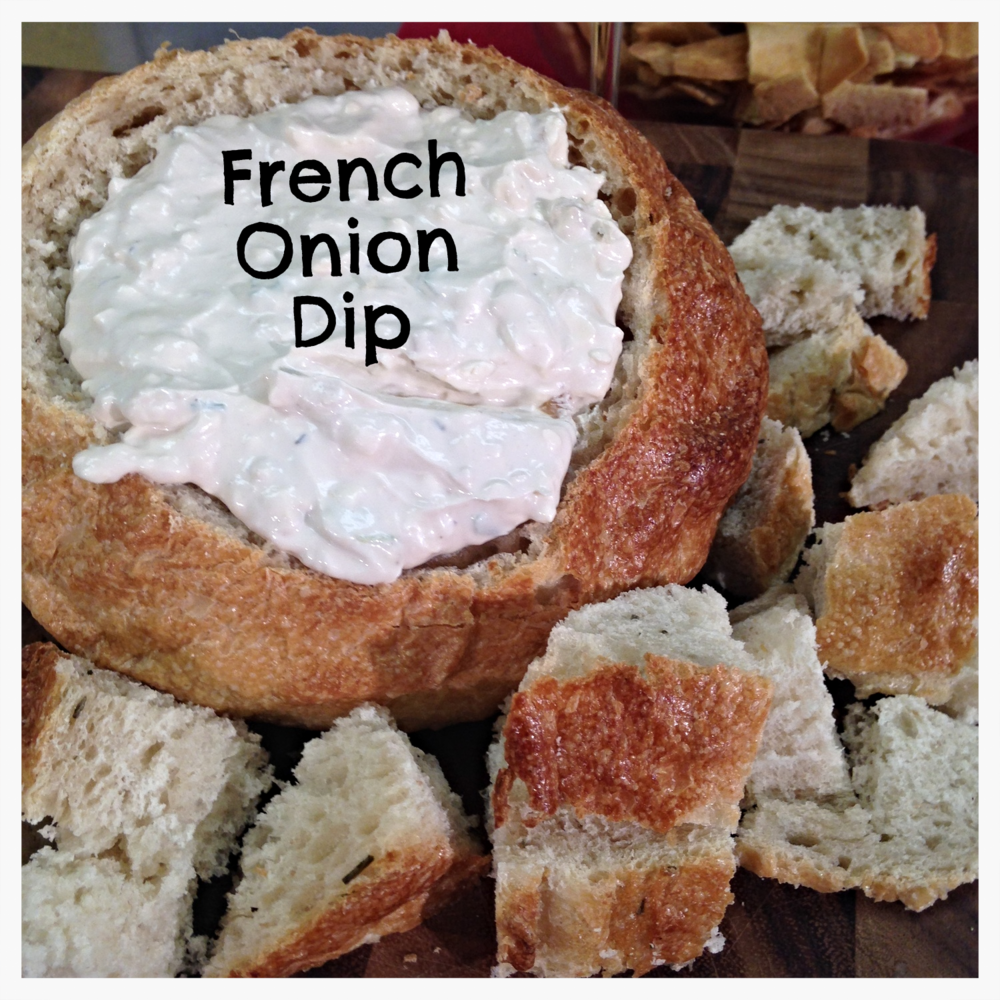 French Onion dip in Bread Bowl- ChefShayna.com