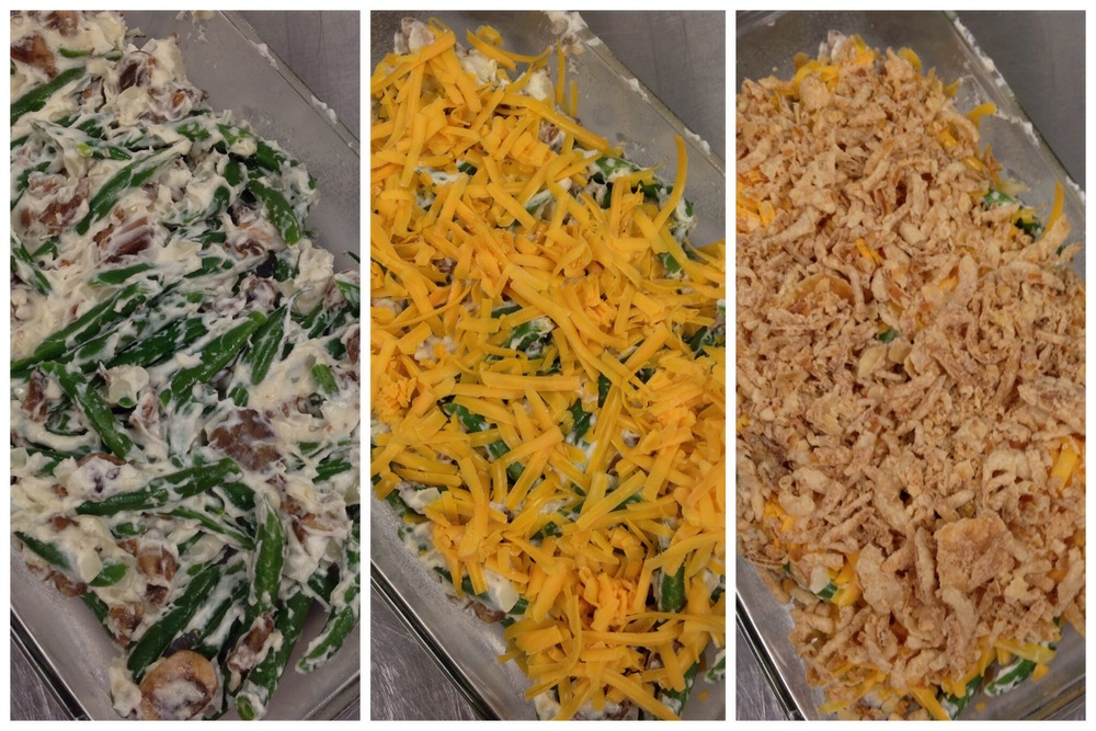 Layering Green Bean casserole