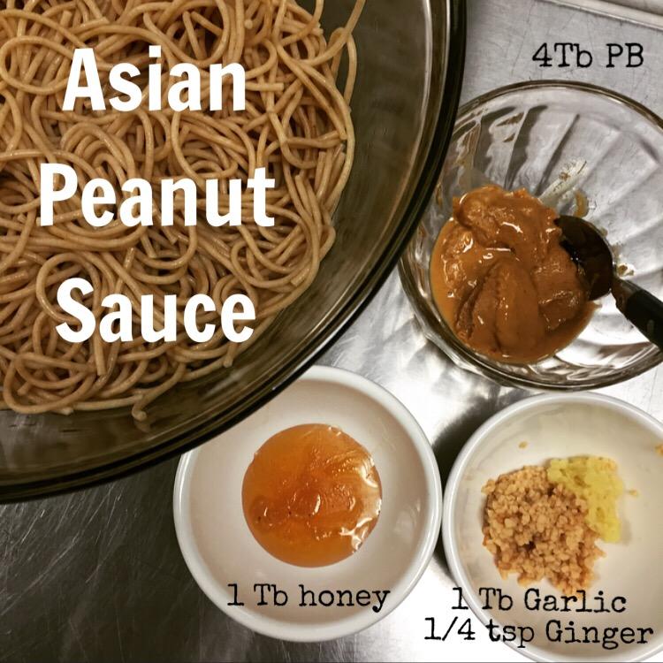 Asian Peanut Sauce for Rainbow Noodles- ChefShayna.com