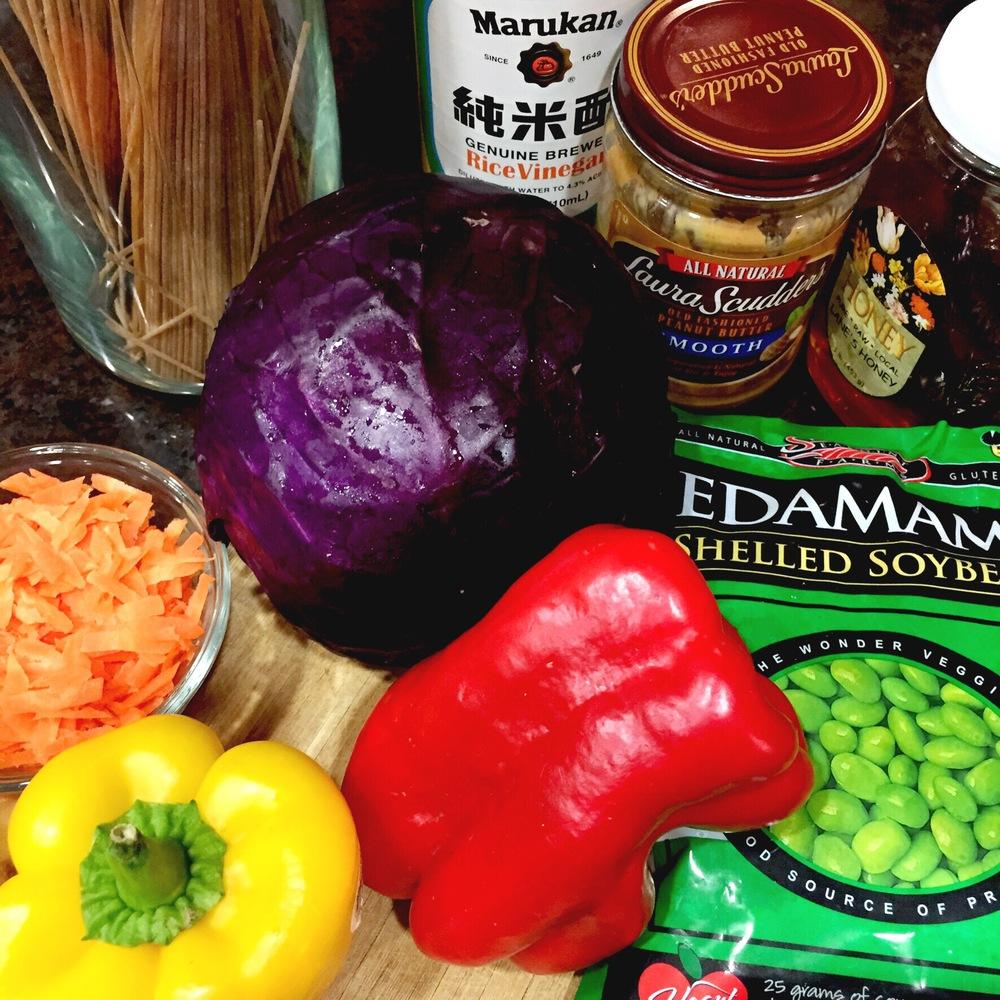 Fresh ingredients in Chef Shayna's test kitchen