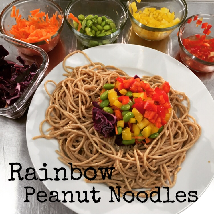 Eat the Rainbow- a healthy veggie noodle dish your family will love. ChefShayna.com
