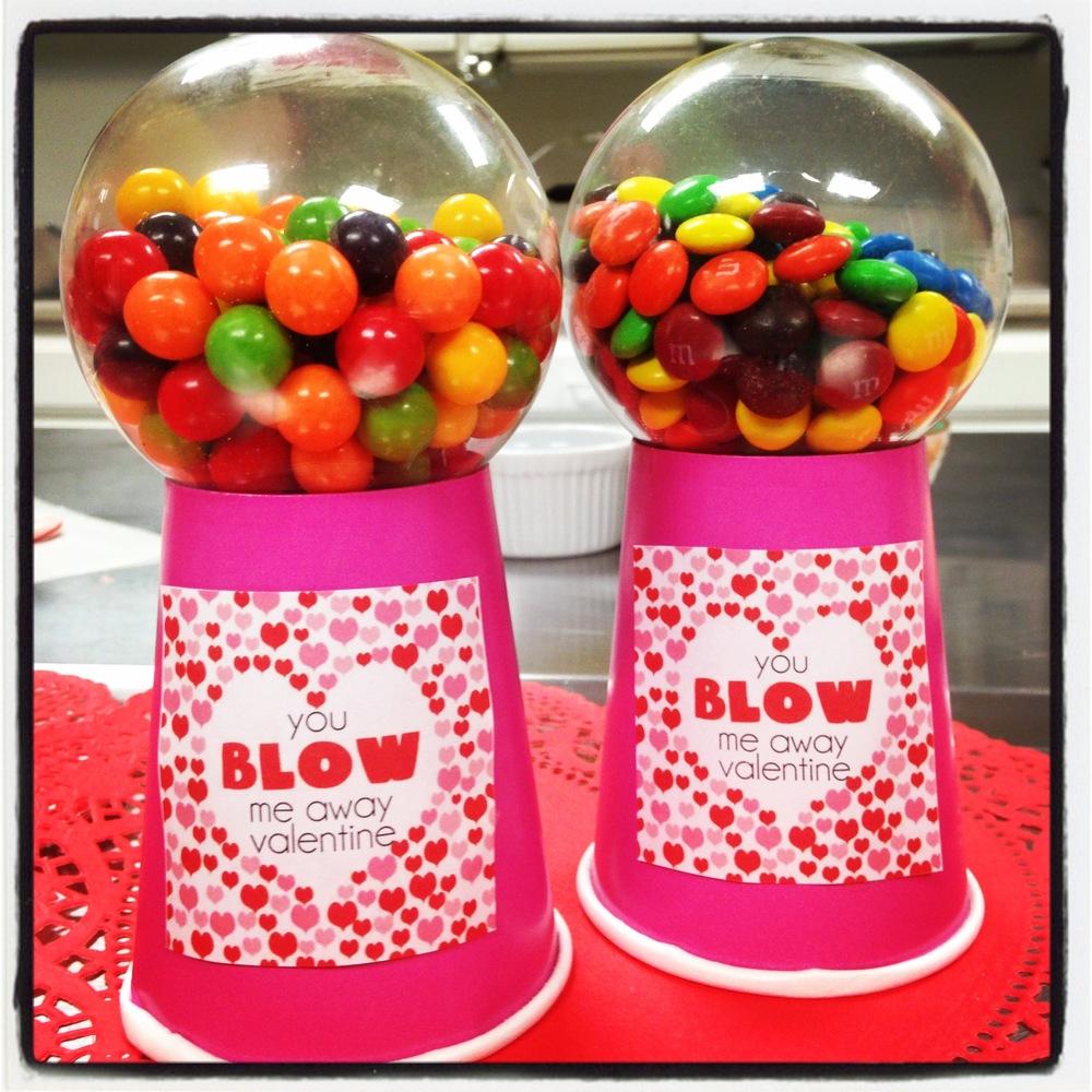 Mini Gumball Machine Valentine's Day Gift- ChefShayna.com