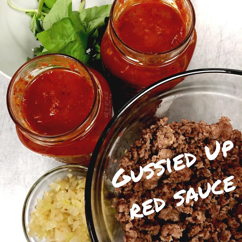 Gussied Up Marinara Sauce for decadent Lasagna- ChefShayna.com
