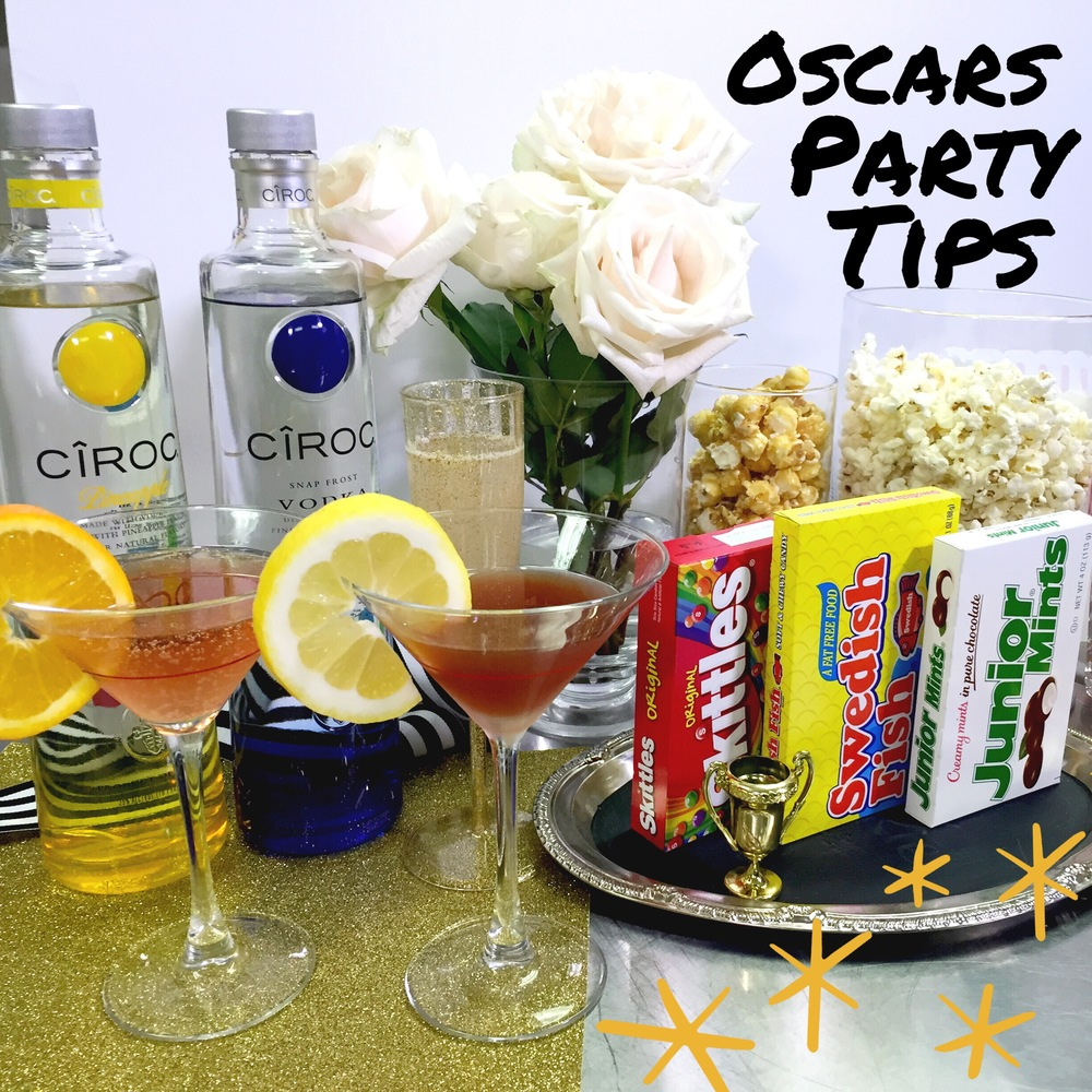 The Oscars Party Tips- Ciroc Cocktails & Mocktails from www.ChefShayna.com
