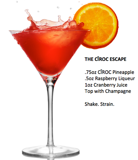 The Ciroc Escape- Recipe for a fabulous Oscars Party on www.ChefShayna.com