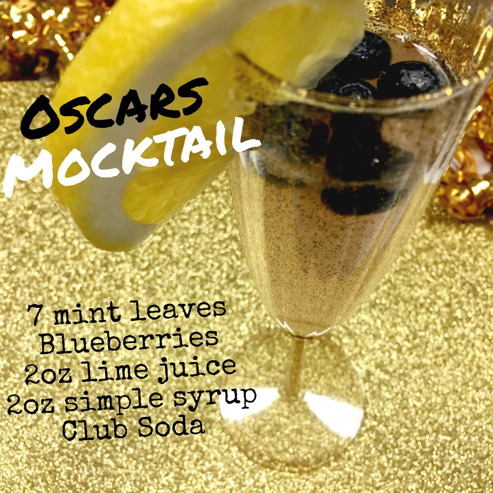 Oscars Party Mock-tails- Non- alcoholic options for a fun filled evening. More recipes & party tips on ChefShayna.com