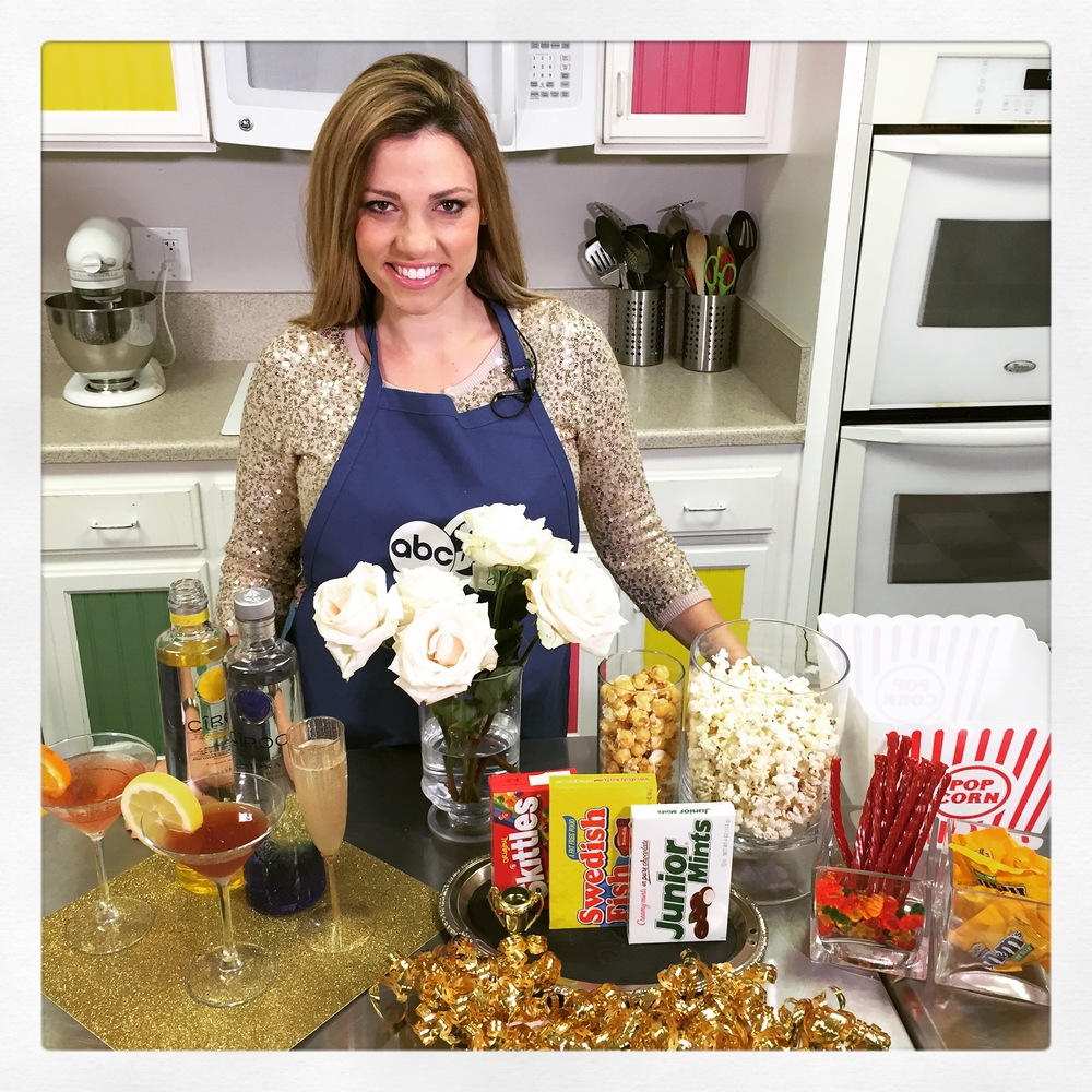 Cocktials and Candy Bar for a Oscars Party to remember- Recipes and ideas on ChefShayna.com