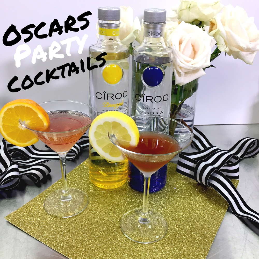 Oscars Party Weekend- Ciroc Cocktails recipes on www.ChefShayna.com