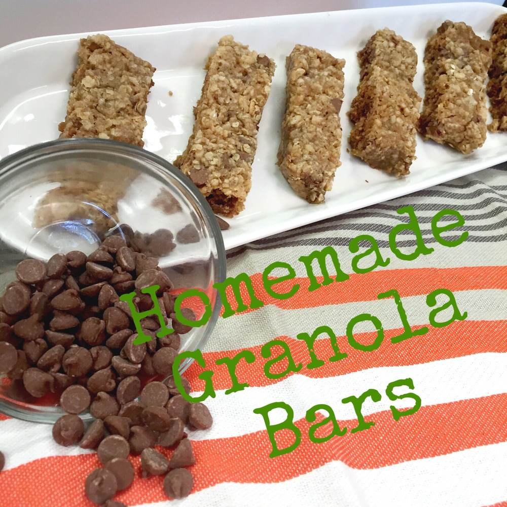 Easy Homemade Chewy Granola Bars- great for the family on the go. Recipe on www.ChefShayna.com