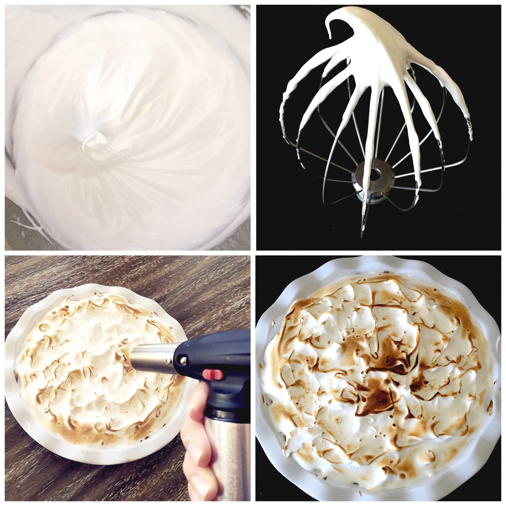 Marshmallow Meringue for S'more Pie- ChefShayna.com