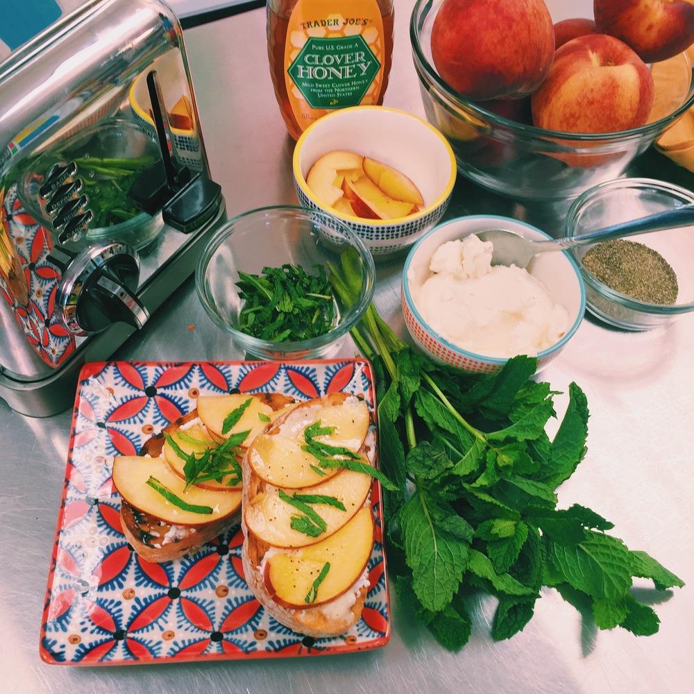 Peach & Ricotta Toast- ChefShayna.com
