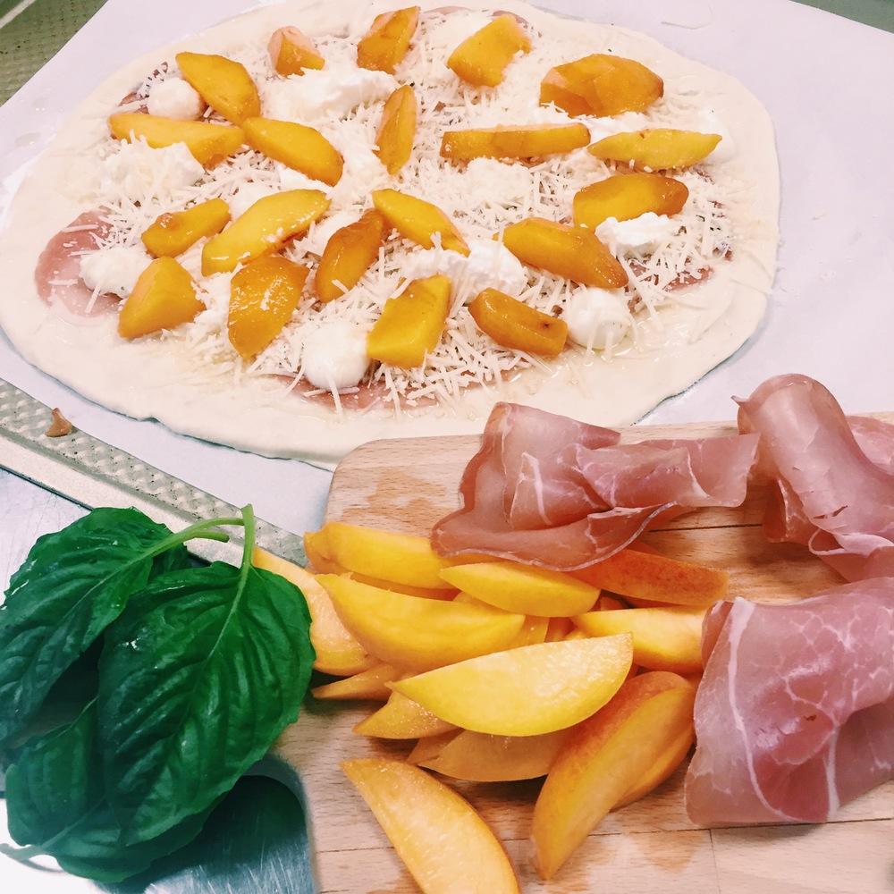 Prosciutto & Peach Pizza