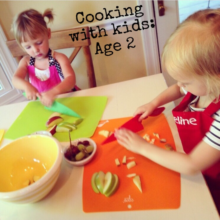 Advice for Cooking with kids starting at age 2- www.ChefShayna.com