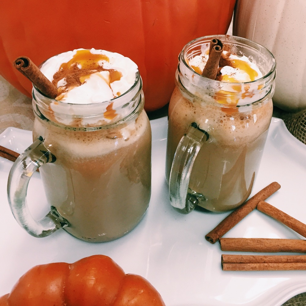 Pumpkin Spice Lattes at home- www.ChefShayna.com
