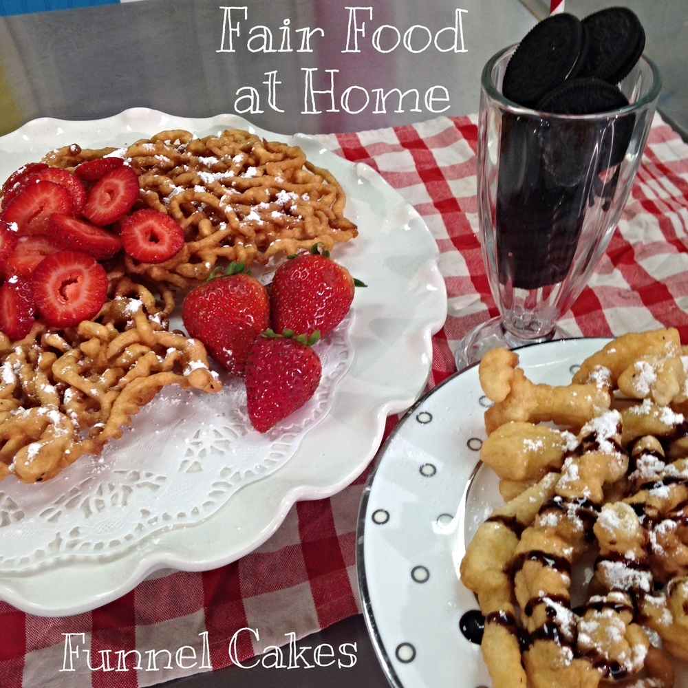 Click the picture to check out the recipe for Funnel Cakes at home.. wow, I have to say my photography skills have improved since last year. I know I still have room to grow.