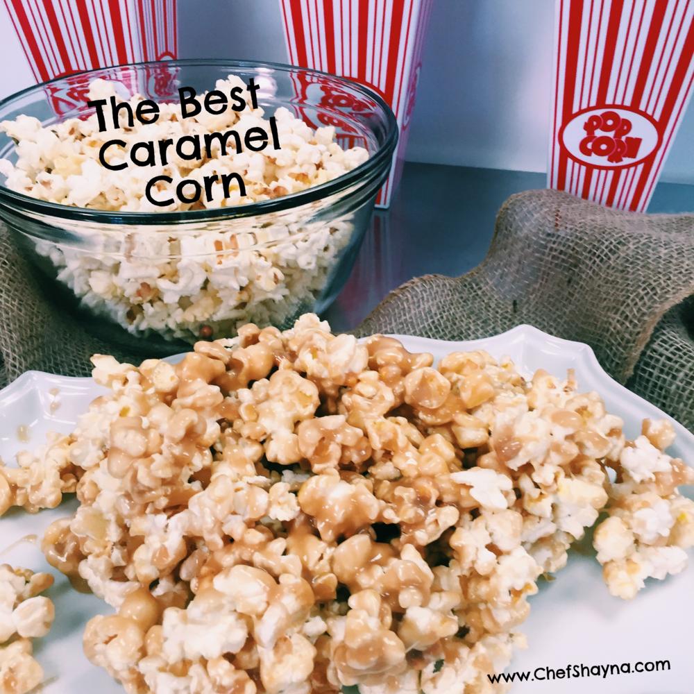 Delicious Ooey Gooey Caramel Popcorn- www.ChefShayna.com
