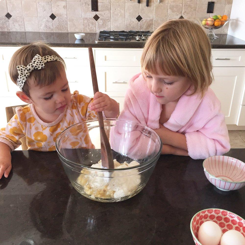 Banana Pancakes for kids to make