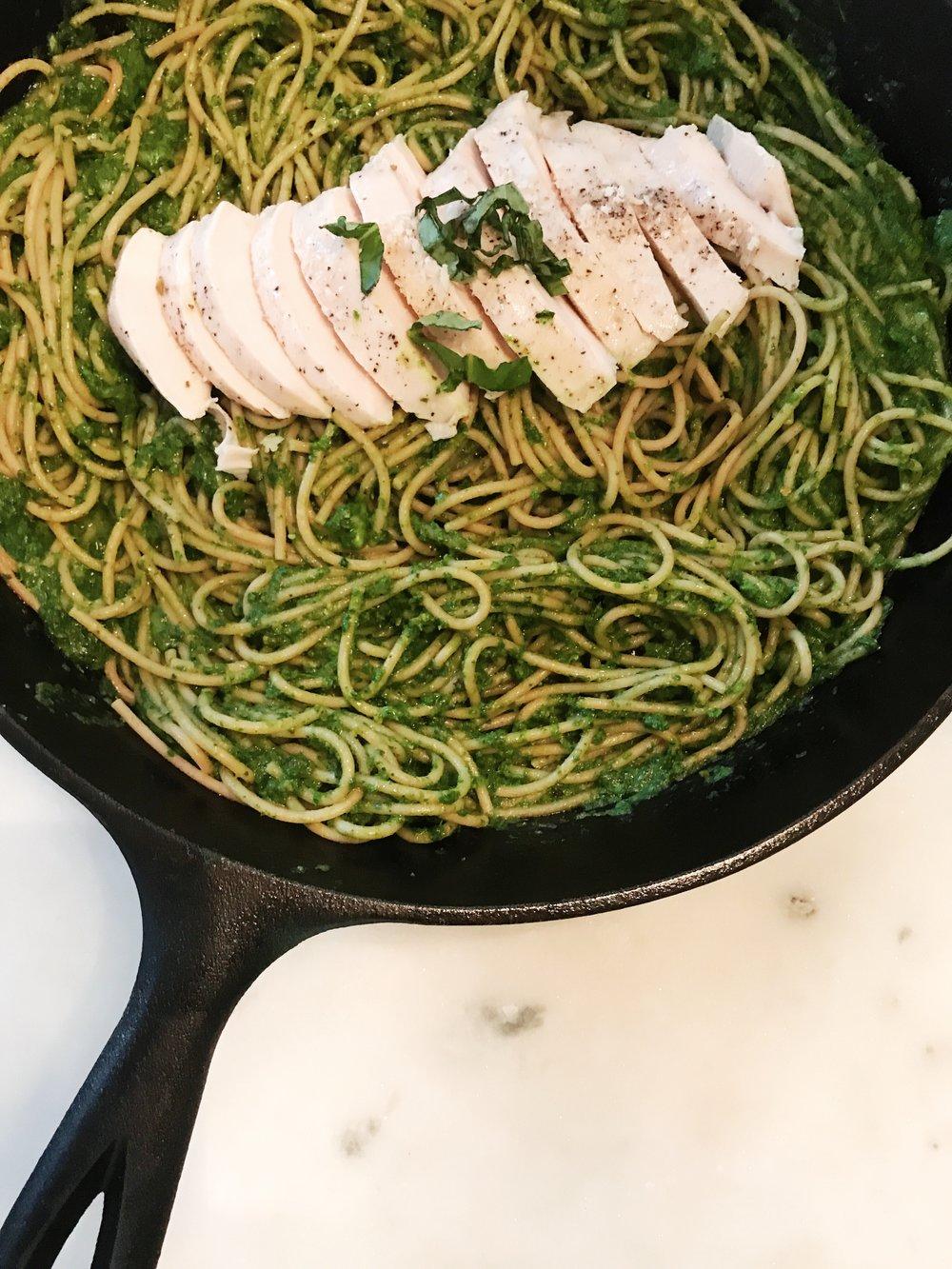 Pistachio Pesto Pasta- www.ChefShayna.com