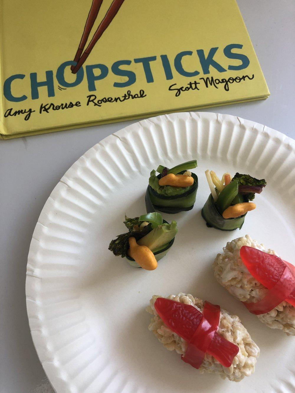 Story & Snack: Sushi Rolls- www.ChefShayna.com