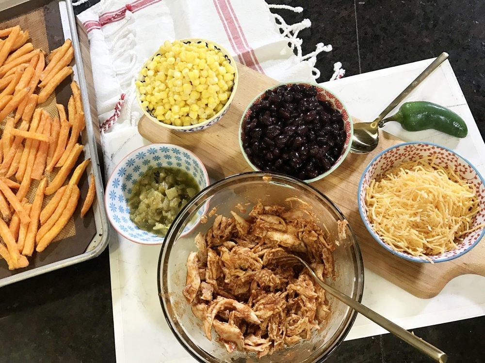 Rodeo Inspired Cowboy Loaded Sweet Potato Fries. www.ChefShayna.com