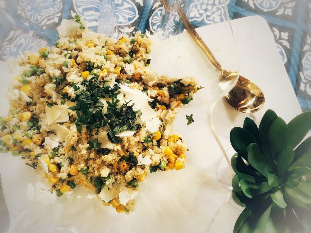 Summer Corn Quinoa Salad- recipe on www.ChefShayna.com