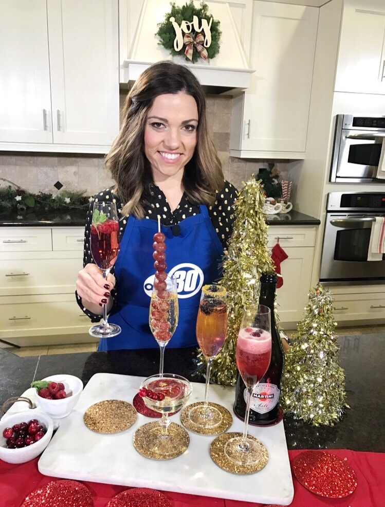 New Year's Cocktails- sparkling wine 3 ways