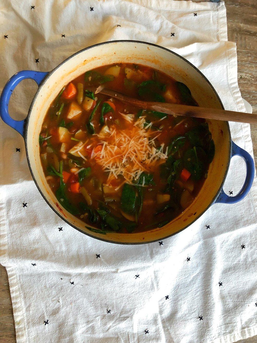 Minestrone Soup Recipe. www.ChefShayna.com