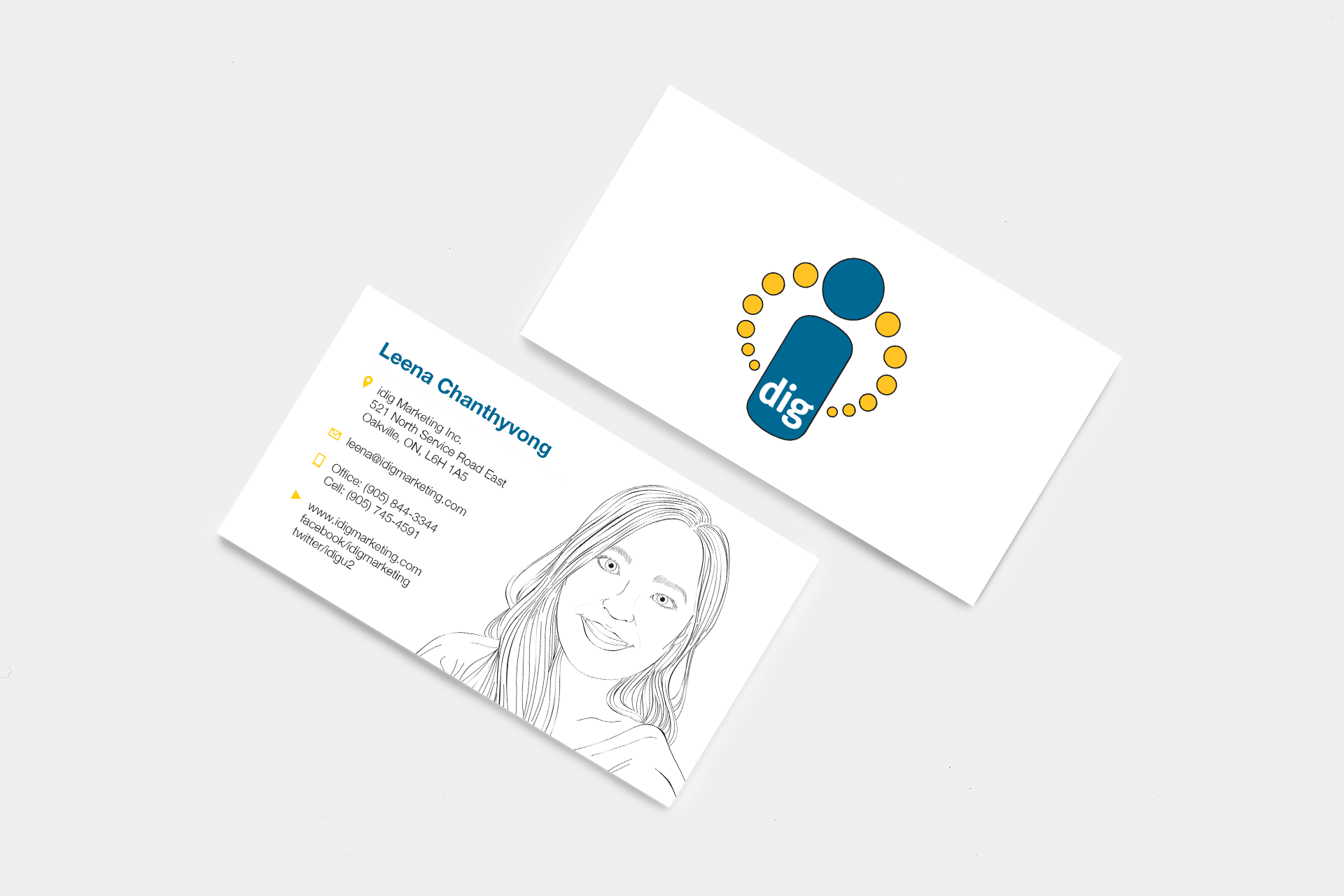 idig business cards — Leena Chanthyvong