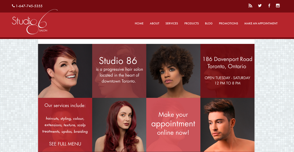 Studio 86 salon is now live roberto vazquez photography for 186 davenport salon