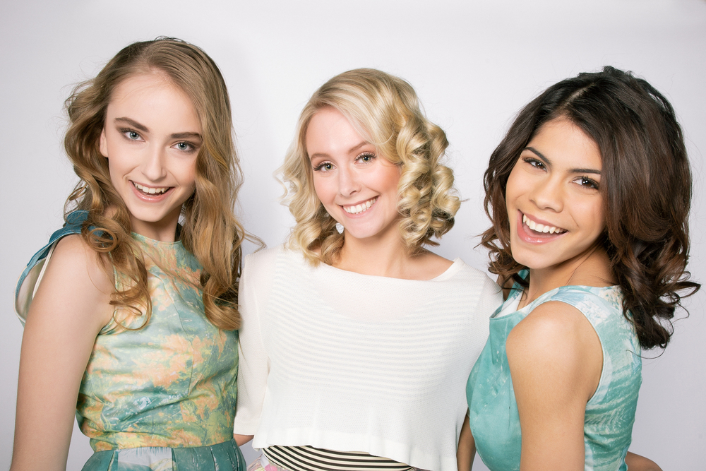 Group shot of our lovely spring models ; Vera Lipatova (Left) Madison Makepeace (Center) & Britney Thistle (Right)