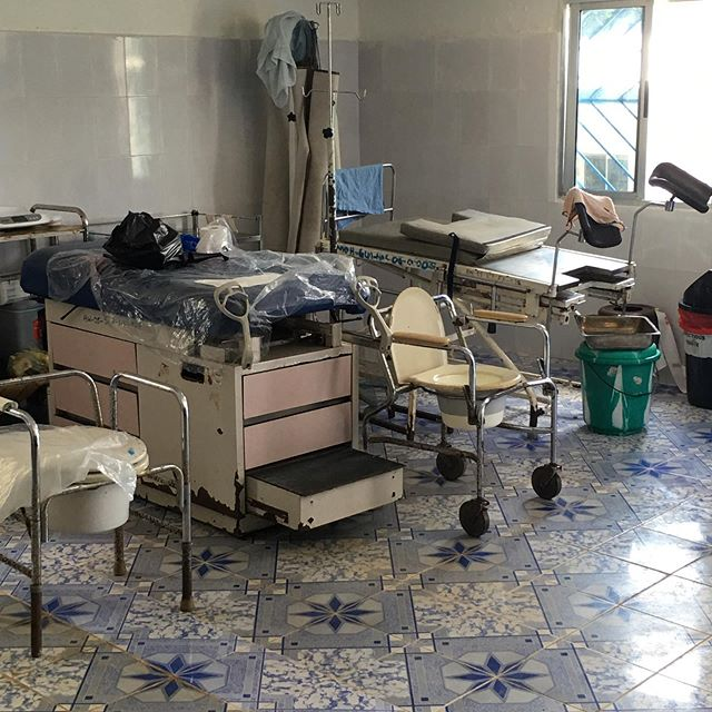 This is the delivery room at Robertsport's hospital. We have now one incubator! CCC is working on fundraising for installation of solar pannels to get electricity to the whole hospital, including the lab room. #loveourpatients #liberia  #hospital #nonprofit #africa #crossculturalcare #globalc3